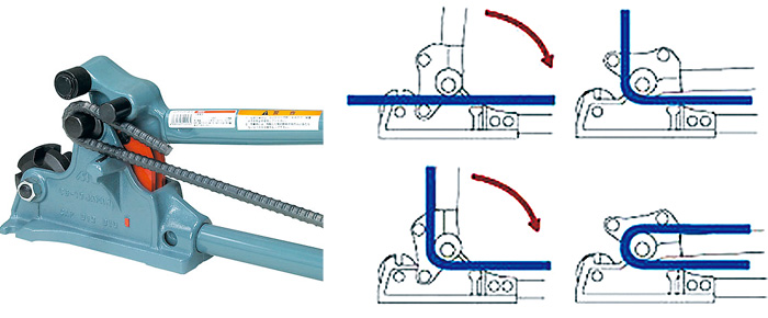 Kìm uốn sắt và cắt thép thanh SCB-16- MCC Japan