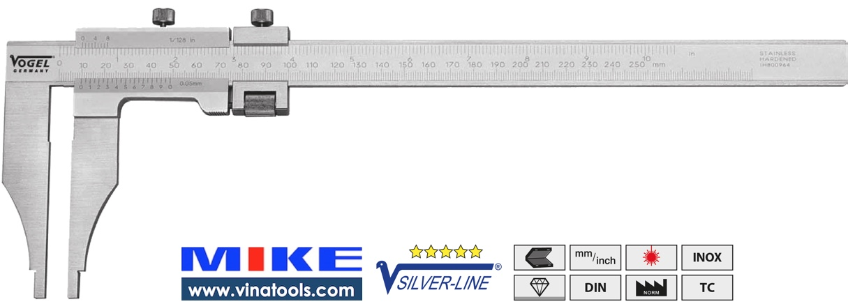 Thước cặp cơ 1250mm/50 inch, có vít tinh chỉnh