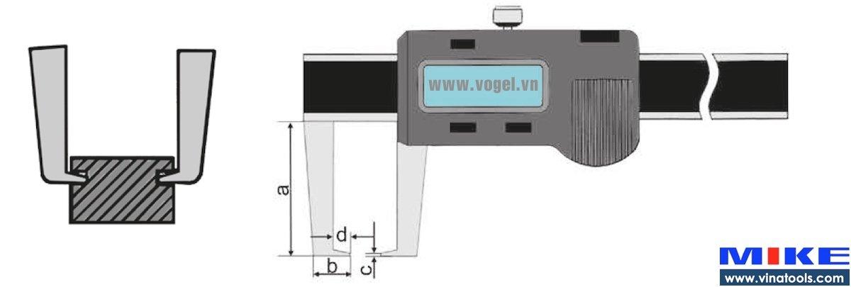 Thước cặp điện tử đo ngoài 0-300mm