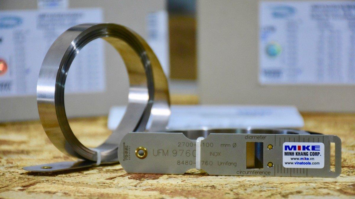 Thước đo đường kính inox 20-300, đo chu vi 60-950mm, Stainless Steel.