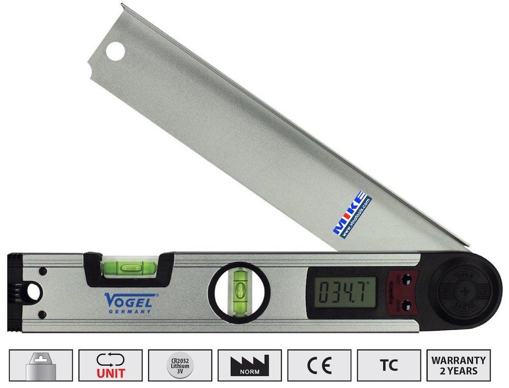 Nivo điện tử 305mm đo góc nghiêng, thước thủy điện tử đo nghiêng. Vogel