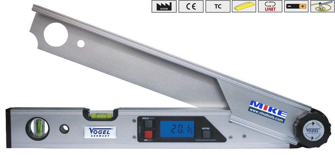 Thước đo góc điện tử 440mm – 225 độ. Vogel 712010