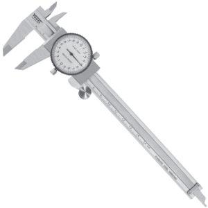 201102 Thước cặp mặt đồng hồ 150mm, ±0.02mm. chống sock. Vogel Germany.