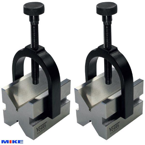 Cặp khối chuẩn 0.004 V-Block 50x40x50mm Vogel - Germany, hợp kim cao cấp