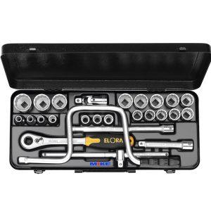 770-LMK bộ khẩu đa năng 26 chi tiết từ 10 - 32mm, loại 6 cạnh, đầu vuông 1/2