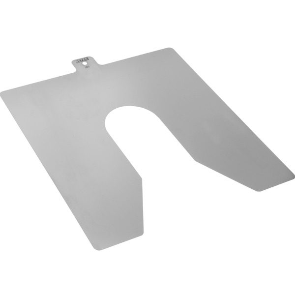 B100070 shim inox 0.70mmx100x100 - M30. BETEX Stainless Steel Shim.