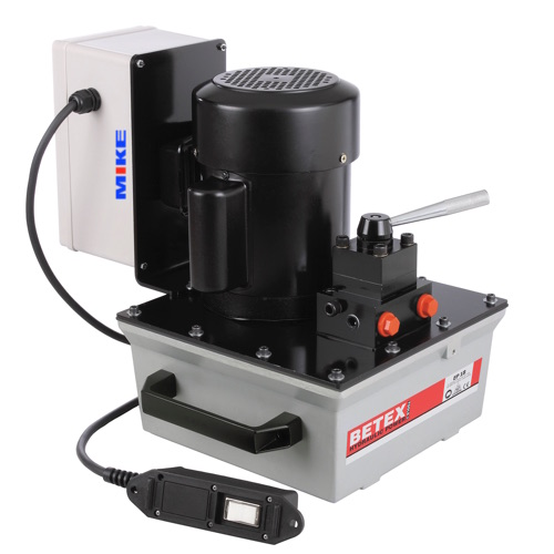 Bơm điện thủy lực BETEX EP18D. Hydraulic electric driven pump. Double acting.