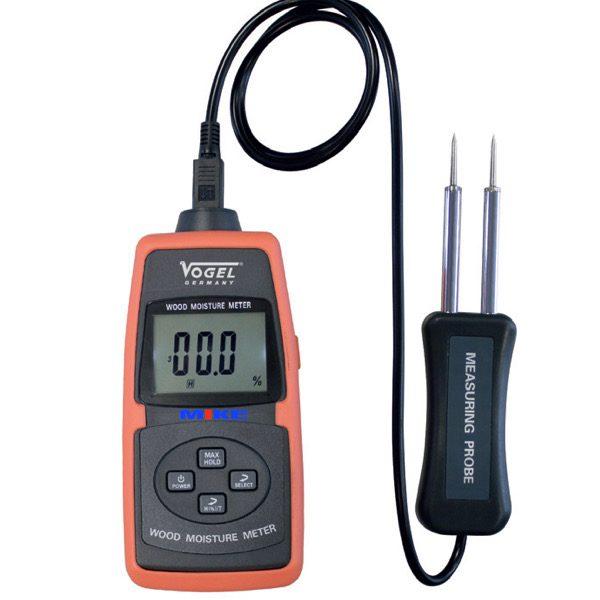 Máy đo độ ẩm gỗ, vật liệu xây dựng, bê tông, ngũ cốc, bìa carton. Chọn loại gỗ khi đo. Vogel 641008