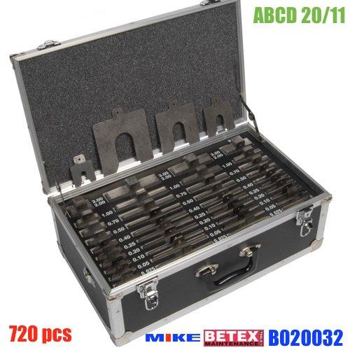 ABCD 20/11 bộ shim 720pcs. Độ dày từ 0.025 - 3.0mm. Bolt Size M12-M20-M30-M42.