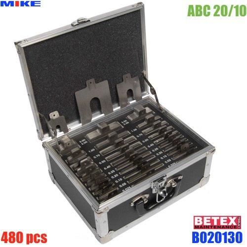 ABC 20/10 Stainless Steel Shim 480 pcs. Độ dày từ 0.05 - 3.0mm. Bolt Size M12-M20-M30