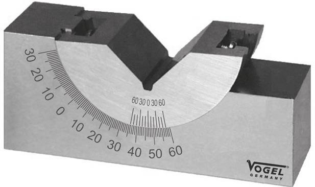 V-Block chỉnh góc nghiêng 75x25x32/23mm. Vogel Germany.