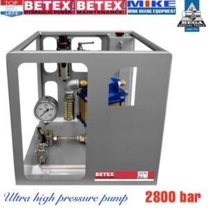 Ultra high pressure pumps BETEX UHAP2800, air driven