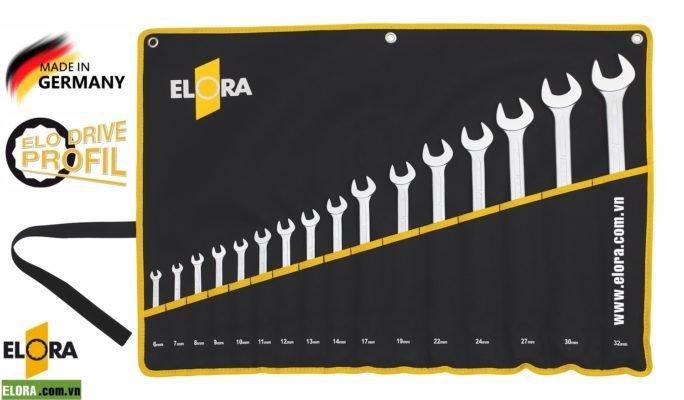 bộ cờ lê vòng miệng hệ mét ELORA Germany