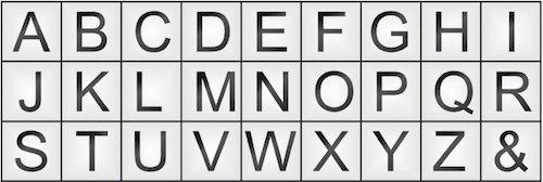 bộ đục chữ ELORA