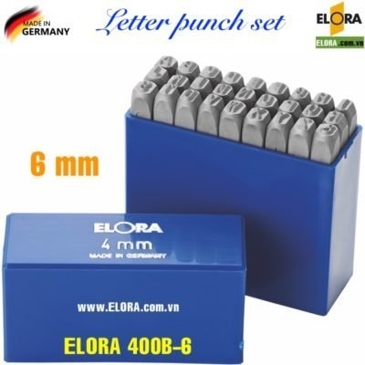 Bộ đục chữ 6mm, 27 ký tự bằng thép hợp kim ELORA 400B-6
