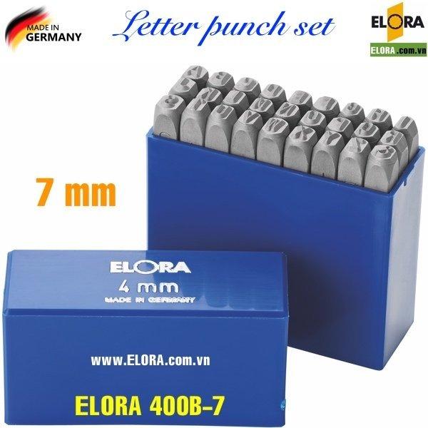 Bộ đục chữ 7mm, 27 ký tự bằng thép hợp kim ELORA 400B-7