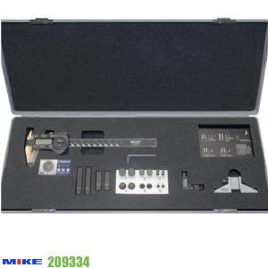 Dưỡng đo 19 chi tiết cho thước cặp điện tử, bao gồm thước kẹp 150mm.