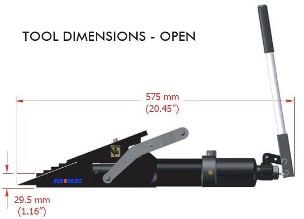 kích thước đầu tách VLW18TI khi mở