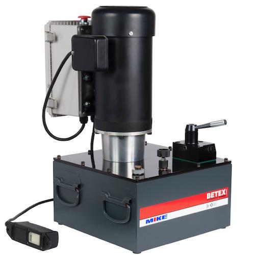 Bơm điện thủy lực BETEX EP320S, dung tích dầu 20 lít, áp suất 700 bar.