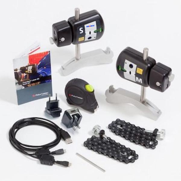 Các thành phần của máy cân chỉnh đồng trục bằng laser KIT