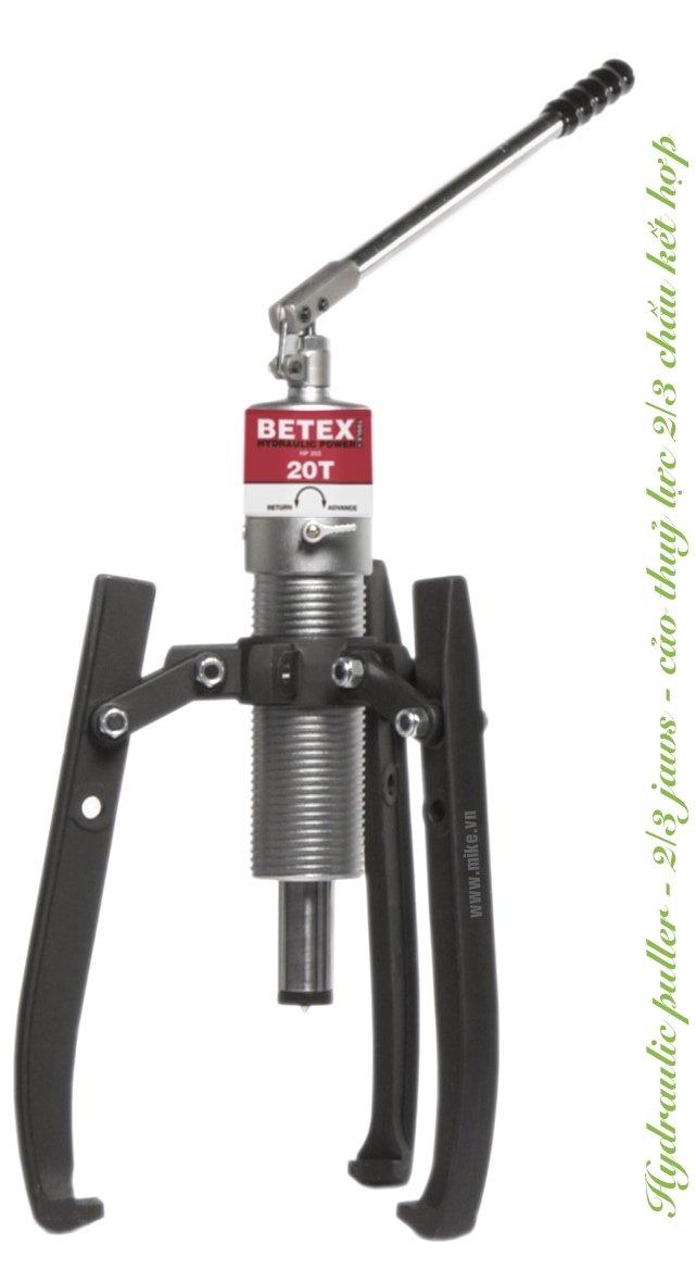 Cảo thủy lực 4 tấn BETEX HP43, 2/3 chấu kết hợp, độ mở 255mm