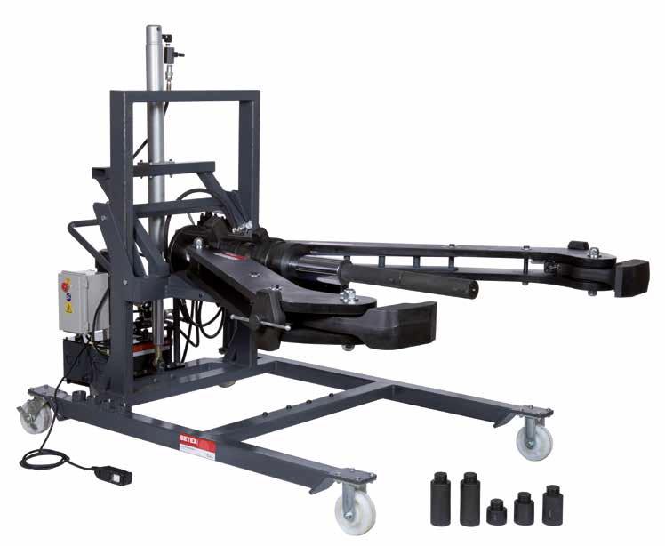 Cảo thủy lực di động BETEX HXPM 100 - 2 arm. Mobile hydraulic Puller 100 ton.