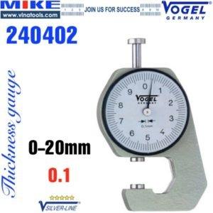 Đồng hồ đo độ dày 0-20 mm