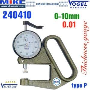 Đồng hồ đo độ dày vật liệu tấm 0-10 mm