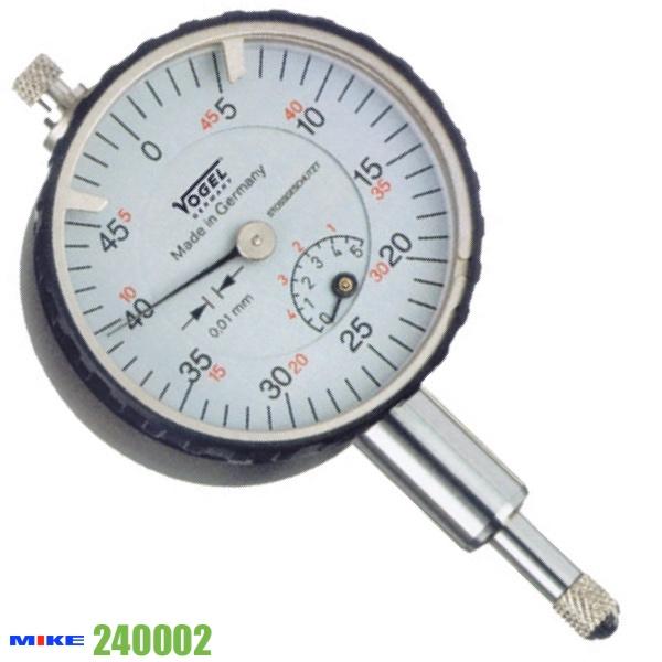 Đồng hồ so cơ khí 0 - 5 mm, ±0.01mm, dùng để hiệu chuẩn. Vogel 240002