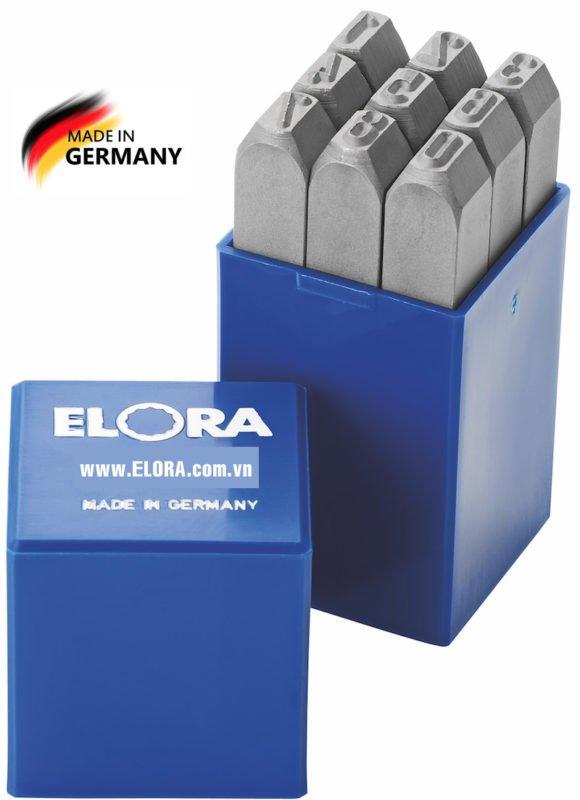 Bộ đục số 15mm, 9 số thép hợp kim ELORA 400Z-15
