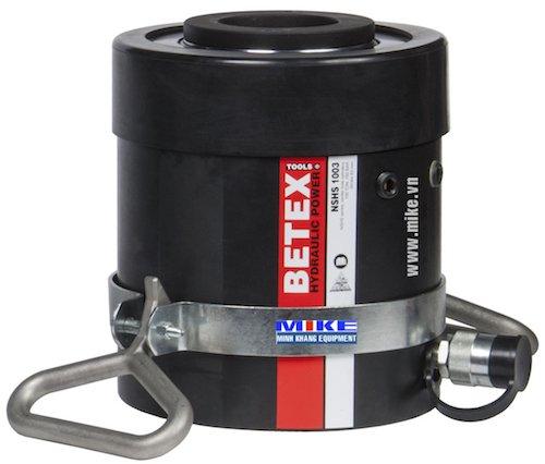 Kích thủy lực 100 tấn BETEX NSHS1003, có lỗ thông tâm, hành trình 76 mm