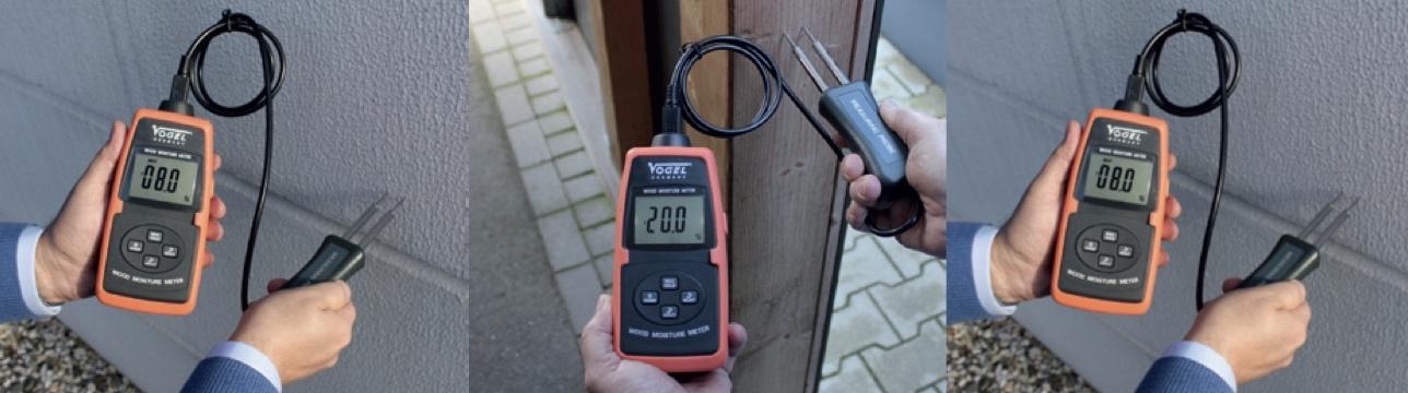 Máy đo độ ẩm gỗ, vật liệu xây dựng, bên tông, ngũ cốc. Vogel Germany.