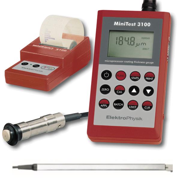 Máy đo độ dày lớp phủ MiniTest 3100. Đa kết nối, đa năng. ElektroPhysik Germany. Máy đo đa năng. Tuỳ chọn nhiều cảm biến. Đo sơn phủ, đo si mạ.