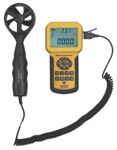Máy đo tốc độ gió 0.3 - 45 m/s. Digital Anemometer. Wind speed. Vogel Germany.