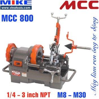 Máy tiện ren ống tiện bulong MCC800 Japan