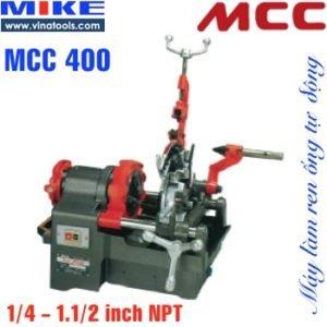 Máy tiện ren ống tiện bulong MCC400 Japan