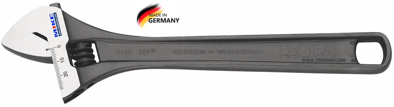 Mỏ lết 210mm ELORA 60-8A, mỏ lết 8 inch. Độ mở 27mm, phosphated