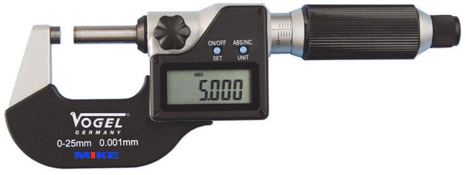 Panme điện tử 0-25mm, ±0.001mm. Panme đo ngoài. Precision digital micrometer. Vogel