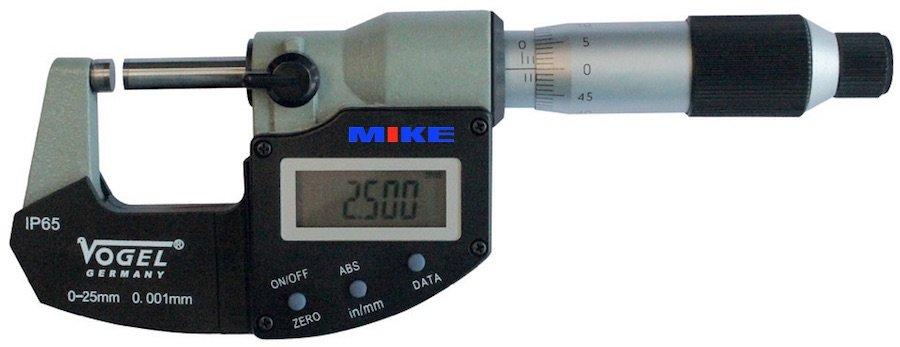 Panme điện tử 50-75 mm, chống nước lạnh IP65. Panme điện tử đo ngoài Vogel.