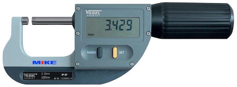 Panme điện tử đo ngoài 30-66mm, ±0.001mm, chống thấm nước. IP67. Vogel Germany.