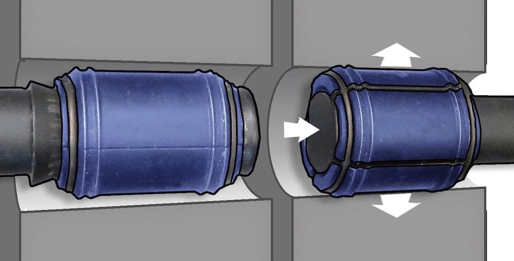 tách mặt bích bằng phương pháp nở từ trong lỗ xỏ bulong.