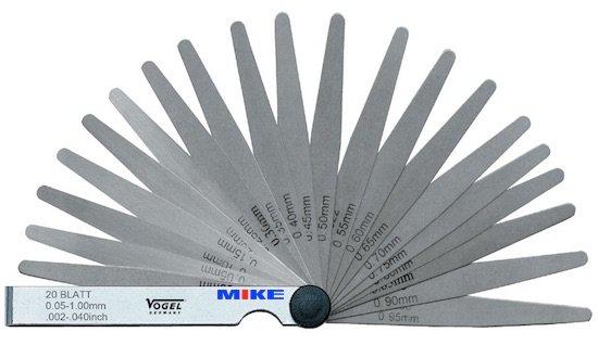 Thước đo khe hở 0.05-1.0 mm, Thước căn lá 13 lá. Feeler gauge. Vogel Germany