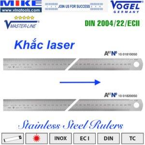 Thước inox khắc laser L-R