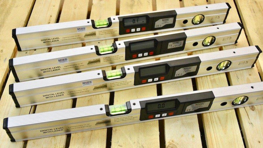 Thước thủy điện tử 600mm, đo góc nghiêng, có laser định điểm. Vogel Germany.