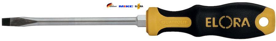 Tô vít dẹt 200 mm, thân tròn, lưỡi 2,0x12,0 mm, ELORA 539-IS-200