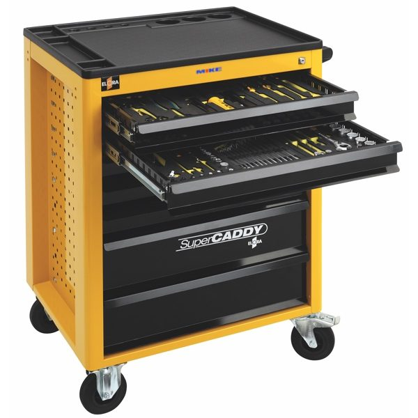 Tủ đồ nghề 7 ngăn SUPER CADDY 1220 - LOT, bao gồm 150 tools.