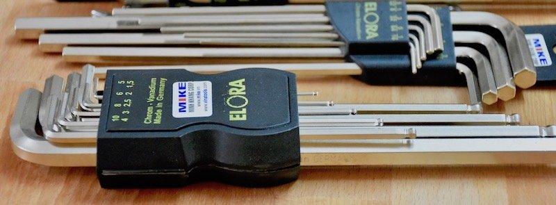 Bộ lục giác đầu bi 9 cây ELORA 159S-KUB, từ 1.5 đến 10mm.