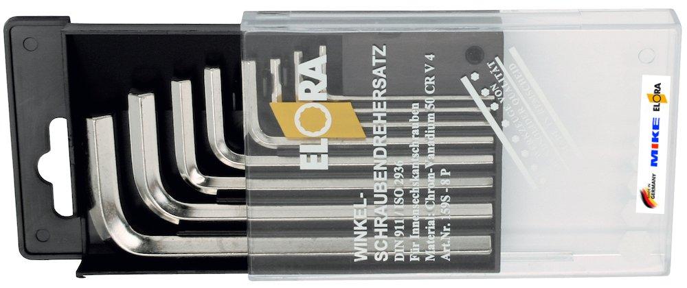 Bộ lục giác hệ mét 8 cây ELORA 159S-8P, từ 2 đến 10mm.