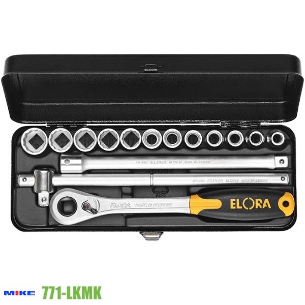 Bộ tuýp hệ mét 15 món ELORA 771-LKMK, từ 10 - 22mm, vuông 1/2 inch