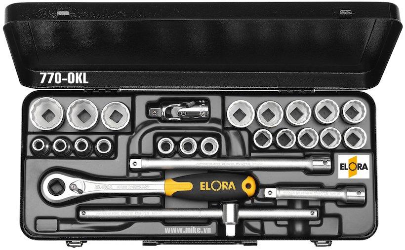 Bộ tuýp hệ mét 25 món ELORA 771-OKLMU, từ 10 - 32mm, 1/2 inch